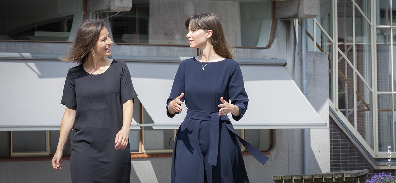 Barbara van Ohlenforst en Elisabeth van der Sman, R&D engineers bij NLR